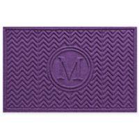 Weather Guard™ Chevron 23-Inch x 36-Inch Door Mat in Purple