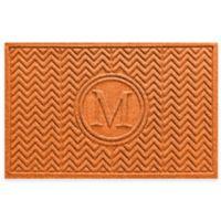 Weather Guard™ Chevron 23-Inch x 36-Inch Door Mat in Orange