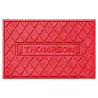 Weather Guard™ Argyle 23-Inch x 36-Inch Door Mat in Red