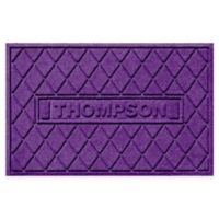 Weather Guard™ Argyle 23-Inch x 36-Inch Door Mat in Purple