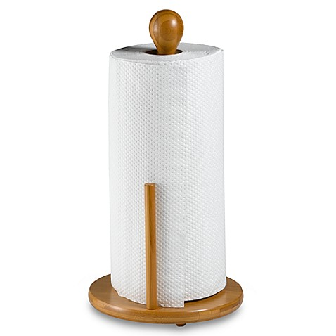 Bamboo paper towel holder bed bath beyond for Bathroom napkin holder