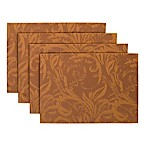 Autumn Scroll Placemats in Bronze (Set of 4)