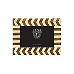 Elsa L. 4-Inch x 6-Inch Chevron Picture Frame in Ivory/Walnut