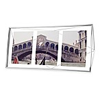 Umbra® Prisma 3-Opening Picture Frame in Chrome