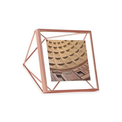 umbra prisma 4 inch x 4 inch photo frame in copper
