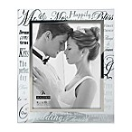 "Malden® 8-Inch x 10-Inch Mirrored ""Mr. & Mrs."" Photo Frame"