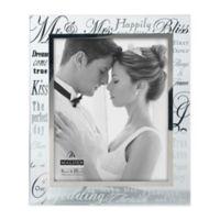 """Malden® 8-Inch x 10-Inch Mirrored """"Mr. & Mrs."""" Photo Frame"""