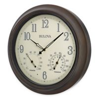 Bulova Illuminated Indoor/Outdoor Wall Clock in Oil Rubbed Bronze