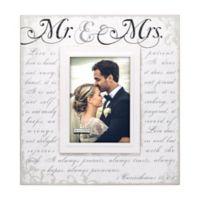 """Malden® 5-Inch x 7-Inch """"Mr. & Mrs."""" Photo Frame in White"""