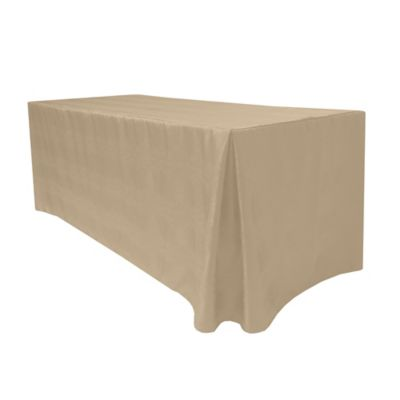 Kenya 30 Inch X 72 Inch Fitted Tablecloth In Sand