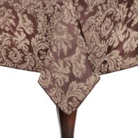 Miranda Damask 54-Inch Square Tablecloth in Chocolate