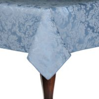 Miranda Damask 84-Inch Square Tablecloth in Slate Blue