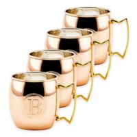 "Old Dutch International Solid Copper Monogram Block Letter ""B"" Moscow Mule Mugs (Set of 4)"