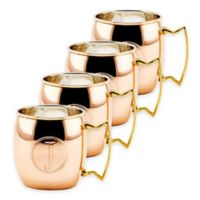 "Old Dutch International Solid Copper Monogram Block Letter ""J"" Moscow Mule Mugs (Set of 4)"