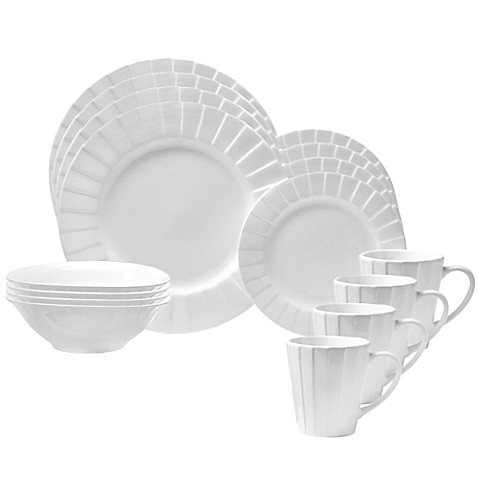 Oneida® Ori 16-Piece Dinnerware Set in White - Bed Bath & Beyond
