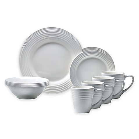 Oneida® Continuum 16-Piece Dinnerware Set in White - Bed Bath & Beyond