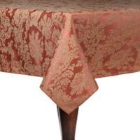 Miranda Damask 90-Inch Square Tablecloth in Sienna