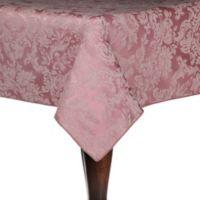 Miranda Damask 90-Inch Square Tablecloth in English Rose