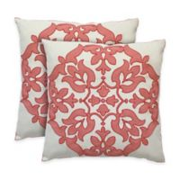 Colorfly™ Haven Throw Pillow in Flamingo (Set of 2)
