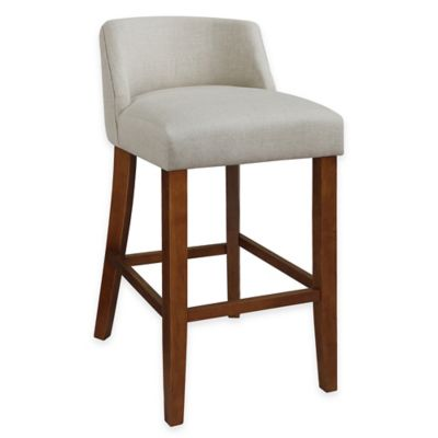Buy Linen Bar Stool From Bed Bath Amp Beyond