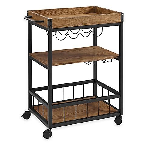 Austin Kitchen Cart in Walnut - Bed Bath & Beyond