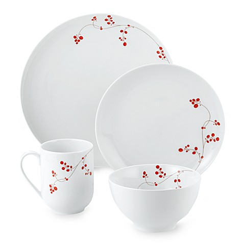 Mikasa® Gourmet Basics Red Berries 16-Piece Dinnerware Set  sc 1 st  Bed Bath u0026 Beyond & Mikasa® Gourmet Basics Red Berries 16-Piece Dinnerware Set - Bed ...