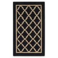 Fretwork Border 1-Foot 8-Inch x 2-Foot 10-Inch Accent Rug in Camel/Black