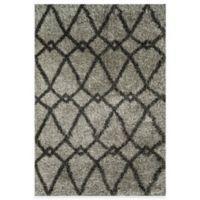 Loloi Rugs Cosma Arrow 3-Foot 9-Inch x 5-Foot 6-Inch Shag Rug in Grey/Charcoal