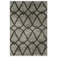Loloi Rugs Cosma Arrow 7-Foot 7-Inch x 10-Foot 5-Inch Shag Rug in Grey/Charcoal