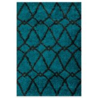 Loloi Rugs Cosma Arrow 7-Foot 7-Inch x 10-Foot 5-Inch Shag Rug in Blue/Charcoal