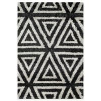 Loloi Rugs Cosma Angles 7-Foot 7-Inch x 10-Foot 5-Inch Shag Rug in Charcoal/Ivory