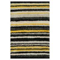 Loloi Rugs Cosma Stripes 3-Foot 9-Inch x 5-Foot 6-Inch Shag Rug in Yellow/Multi