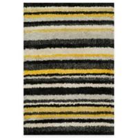 Loloi Rugs Cosma Stripes 5-Foot 2-Inch x 7-Foot 7-Inch Shag Rug in Yellow/Multi