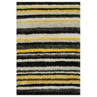 Loloi Rugs Cosma Stripes 7-Foot 7-Inch x 10-Foot 5-Inch Shag Rug in Yellow/Multi