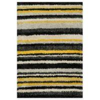 Loloi Rugs Cosma Stripes 7-Foot 7-Inch x 10-Foot 5-Inch Shag Rug in Yellow/Multi