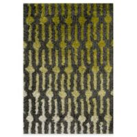 Loloi Rugs Cosma Gradient 3-Foot 9-Inch x 5-Foot 6-Inch Shag Rug in Green/Grey