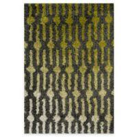 Loloi Rugs Cosma Gradient 7-Foot 7-Inch x 10-Foot 5-Inch Shag Rug in Green/Grey