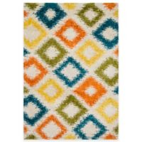 Loloi Rugs Cosma Diamond 3-Foot 9-Inch x 5-Foot 6-Inch Shag Rug in Multicolor