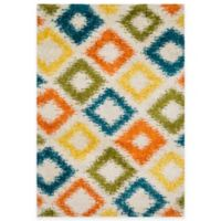 Loloi Rugs Cosma Diamond 7-Foot 7-Inch x 10-Foot 5-Inch Shag Rug in Multicolor