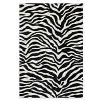 Loloi Rugs Cassidy Zebra 2-Foot 6-Inch x 5-Foot 6-Inch Area Rug in Ivory/Black