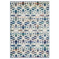 Loloi Lyon Spiral 3-Foot 9-Inch x 5-Foot 2-Inch Area Rug in Blue