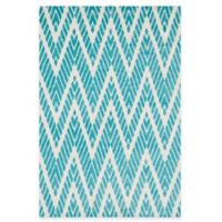 Loloi Rugs Cassidy Chevron 7-Foot 6-Inch x 9-Foot 6-Inch Area Rug in Aqua