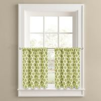 Morocco 24-Inch Window Curtain Tier Panel Pair in Green
