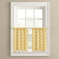 Morocco 36-Inch Window Curtain Tier Panel Pair in Yellow