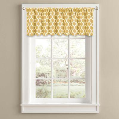 morocco 14 inch window valance in yellow. beautiful ideas. Home Design Ideas