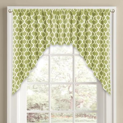 sage jacquard dp window panel curtain rod with kitchen valances grommet valance set amazon pocket tier metal com green home