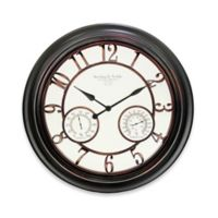 23.5-Inch Round Indoor/Outdoor Wall Clock in Bronze