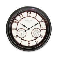 23 5 Inch Round Indoor Outdoor Wall Clock In Bronze