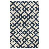 Loloi Rugs Weston Hatch 2-Foot 3-Inch x 3-Foot 9-Inch Area Rug in Ivory/Navy