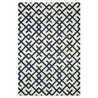 Loloi Rugs Weston Hatch 5-Foot x 7-Foot 6-Inch Area Rug in Ivory/Navy